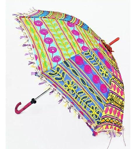 c67449fc626 GANESHAM HANDICRAFT- Indian Decorative Handmade Decorative Cotton Mirror  Work Embroidery
