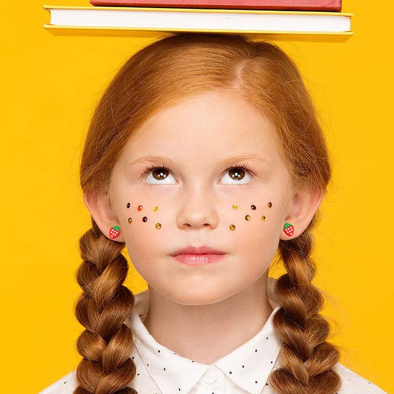 Enfant Fille Boucles doreilles pour fille Comius 100 Paires de Poterie douce clou doreille avec /Étui de Rangement et Fermoirs en Caoutchouc pourr Femme
