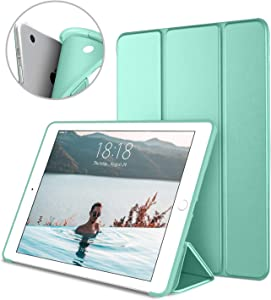 DTTO iPad Air 1st Edition Case, (NOT for iPad Air 2 and Air 3) Ultra Slim Lightweight Smart Trifold Stand with Flexible Soft TPU Back Cover [Auto Sleep/Wake], Mint Green