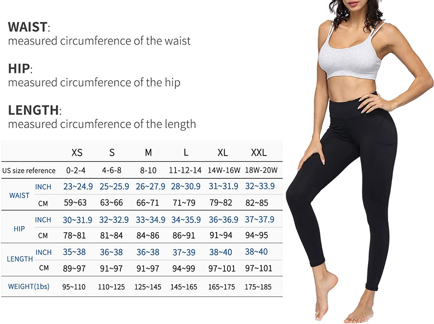 4 Way Stretch Yoga Leggings TQD High Waist Yoga Pants with Pocket Tummy Control Yoga Pants for Women Workout Running