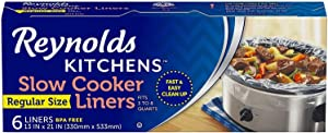 Reynolds Kitchens Premium Slow Cooker Liners - 13 x 21 Inch, 6 Count (2 Packs(6 Count))