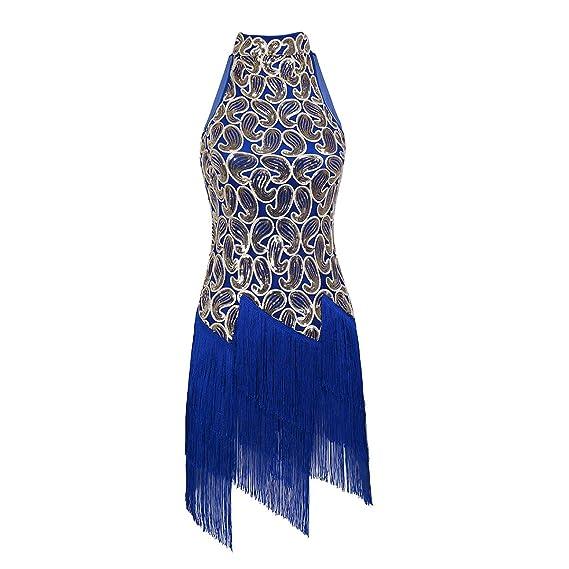 dPois Mujer Vestido de Baile Latino Clásico Tango Vestido ...