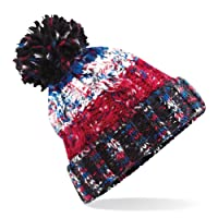 Beechfield Unisex Adults Corkscrew Knitted Pom Pom Beanie Hat