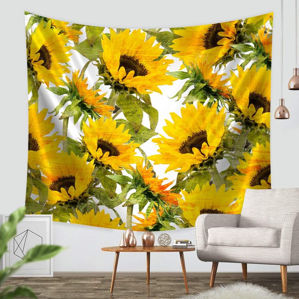 Amazon.com: ZBLX Tapestry by, Sunflowers Forever Tapestry Wall ...