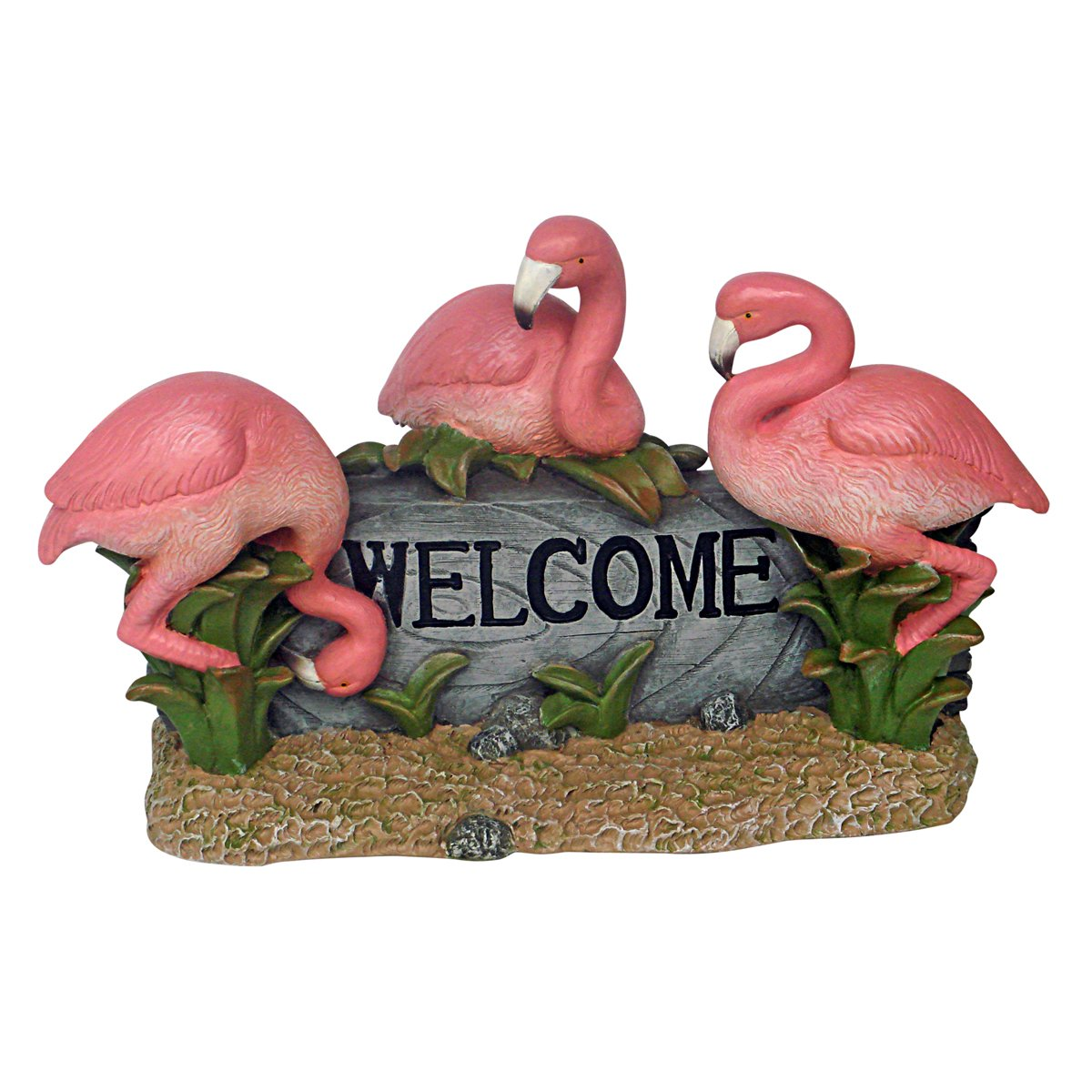 Amazon.com : Design Toscano Pink Flamingo Welcome Statue, Multicolored : Outdoor  Statues : Garden U0026 Outdoor