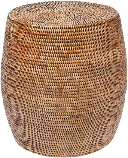 Kouboo La Jolla Round Handwoven Rattan Stool/Side Table