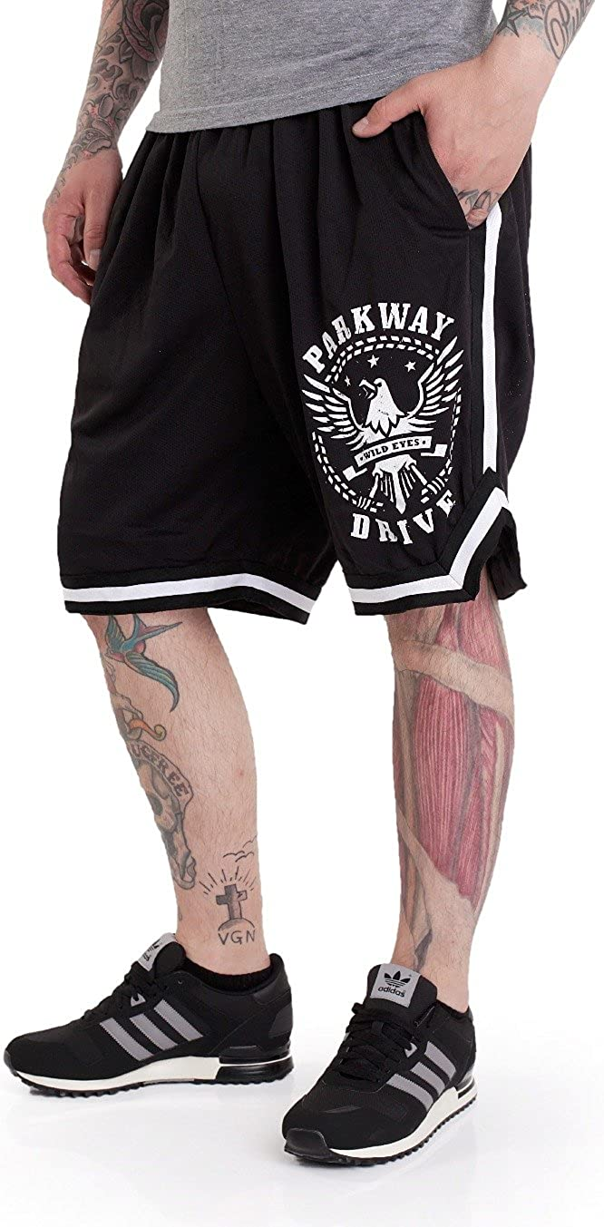 Parkway Drive Wild Eyes Striped Shorts