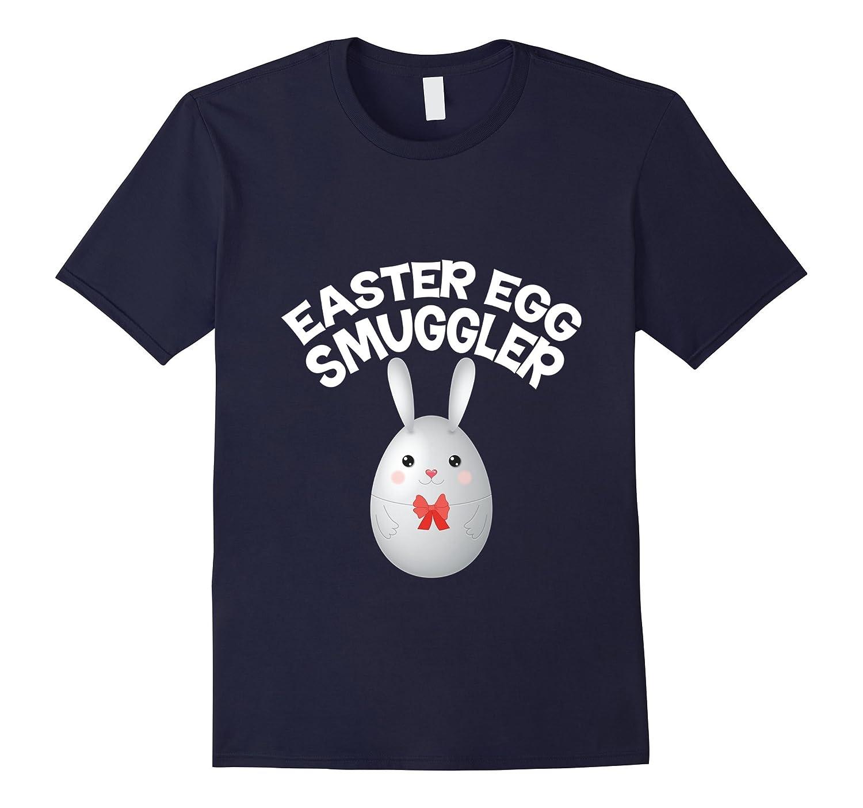 Easter Egg Smuggler Bunny Ears T-Shirt Pregnant Maternity-TD