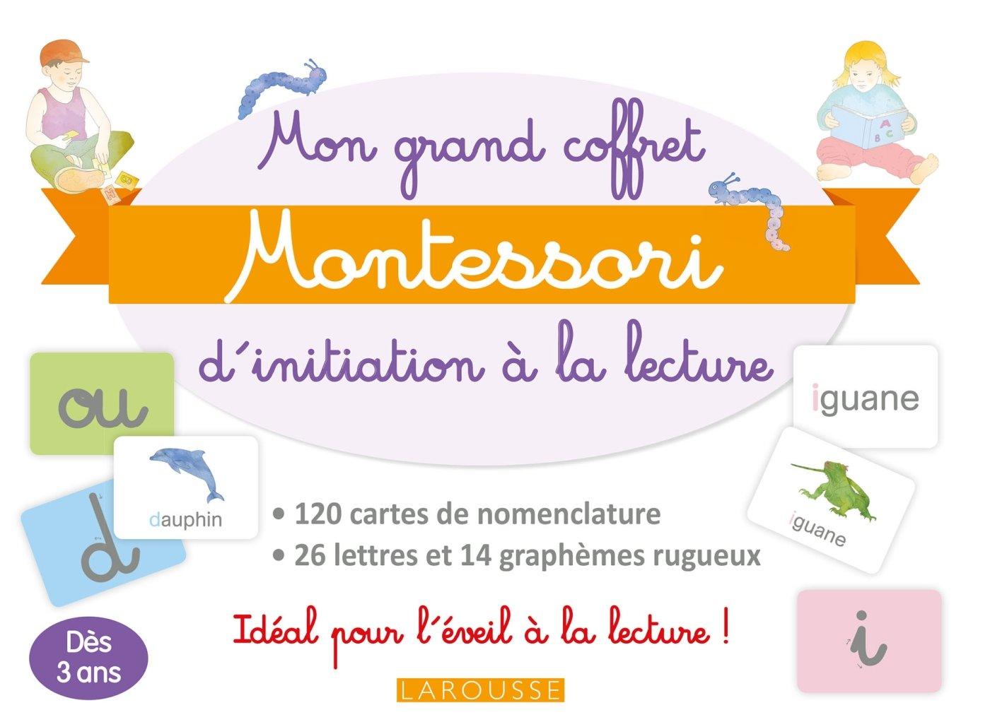 Mon grand coffret Montessori initiation à la lecture : A partir de 3 ans