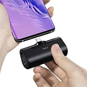 iWALK 4500mAh Portable Charger USB C Battery Pack, Compatible with Samsung Galaxy S20,S10,S9,S8,Note 20/10/9/8,Moto Z3/2,LG V35/G8/7/5,Nintendo Switch,Google Pixel 4/3/2XL,OnePlus, Black