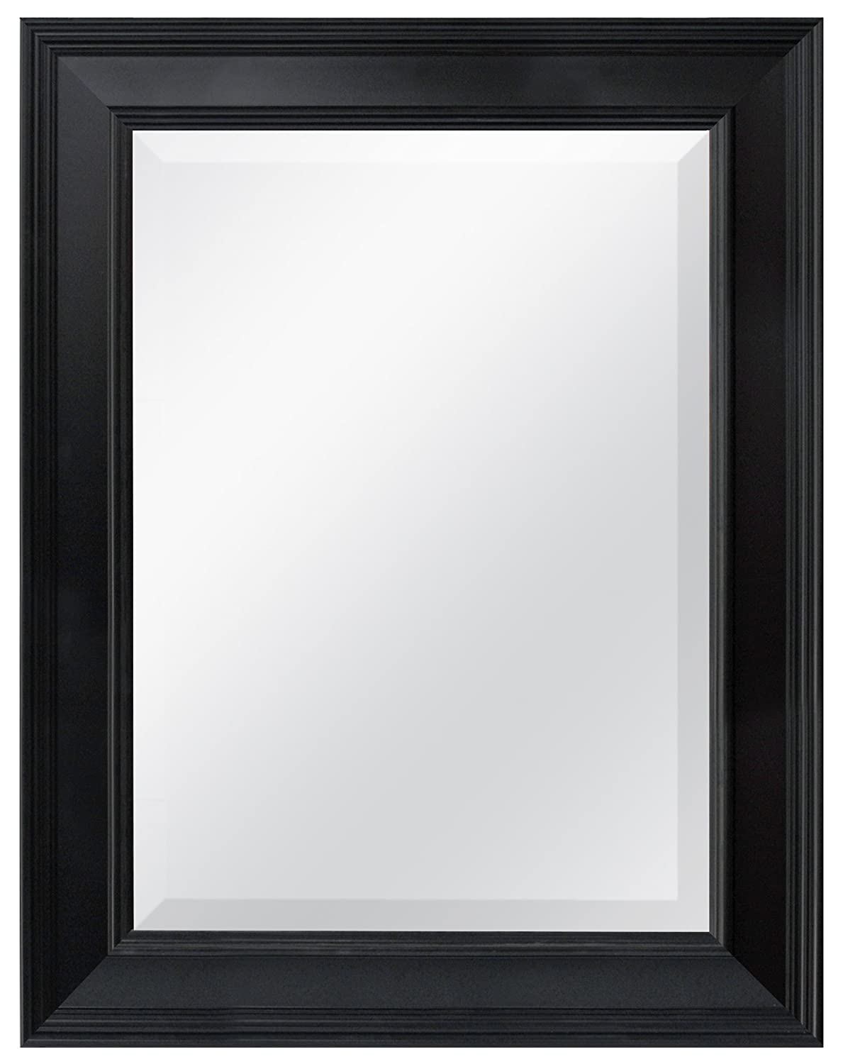 MCS 15.5x21.5 Inch Wall Mirror, 21.5x27.5 Inch Overall Size, Black (20449)