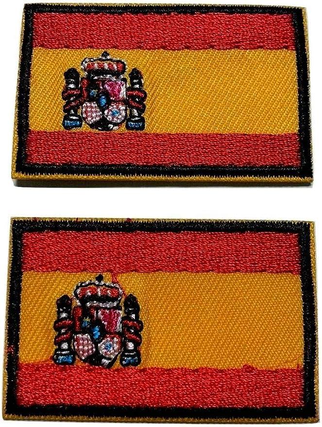 b2see Parches Patch Termoadesive Bordadas Jeans Costura Ropa Tela Termoadhesivo Bandera España Kit 2 Piezas 4,8 x 3 cm: Amazon.es: Hogar