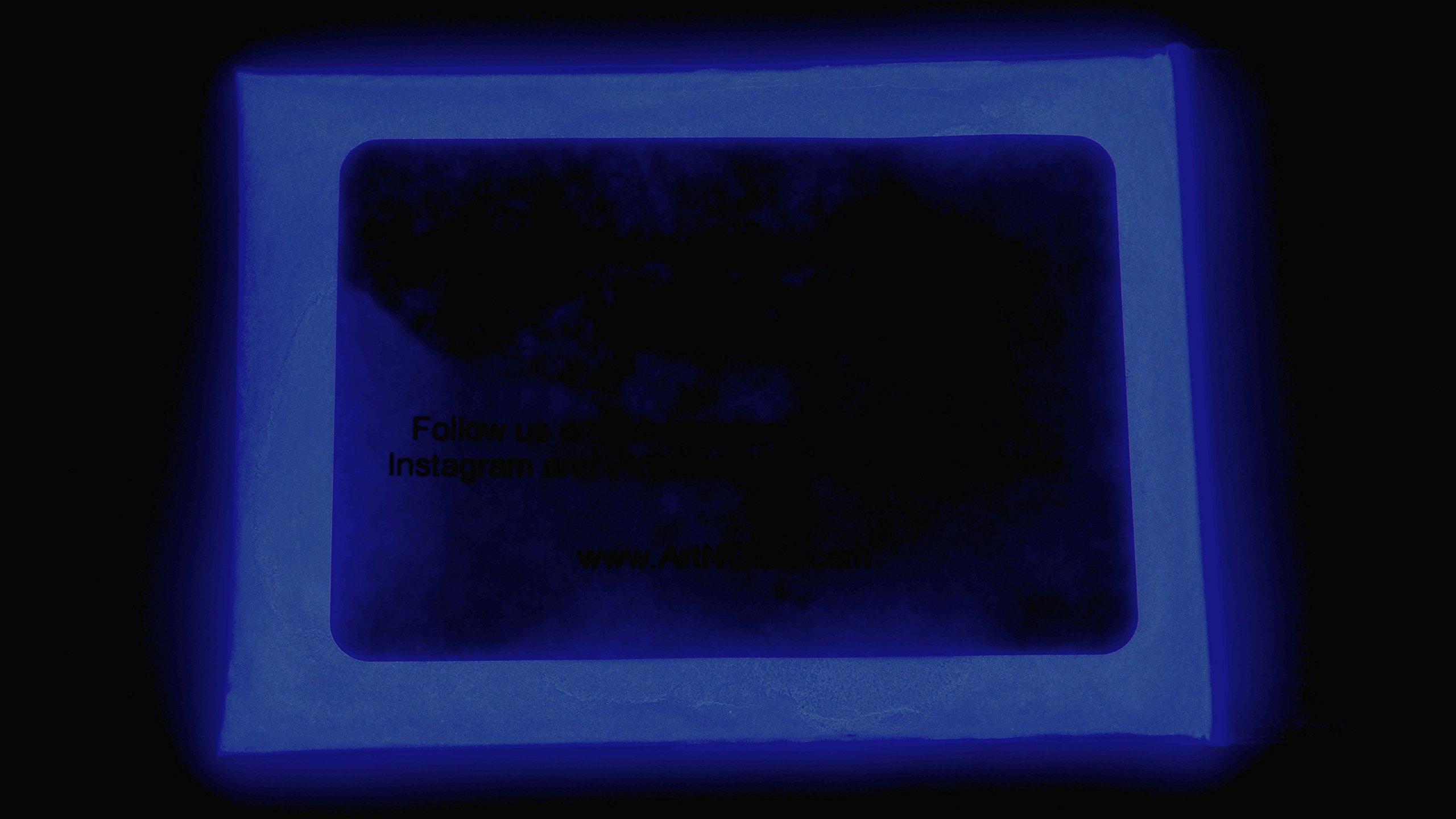 Glow In The Dark Pigment Powder - 1 Kilogram (Neutral and Fluorescent) (Neutral Dark Blue)