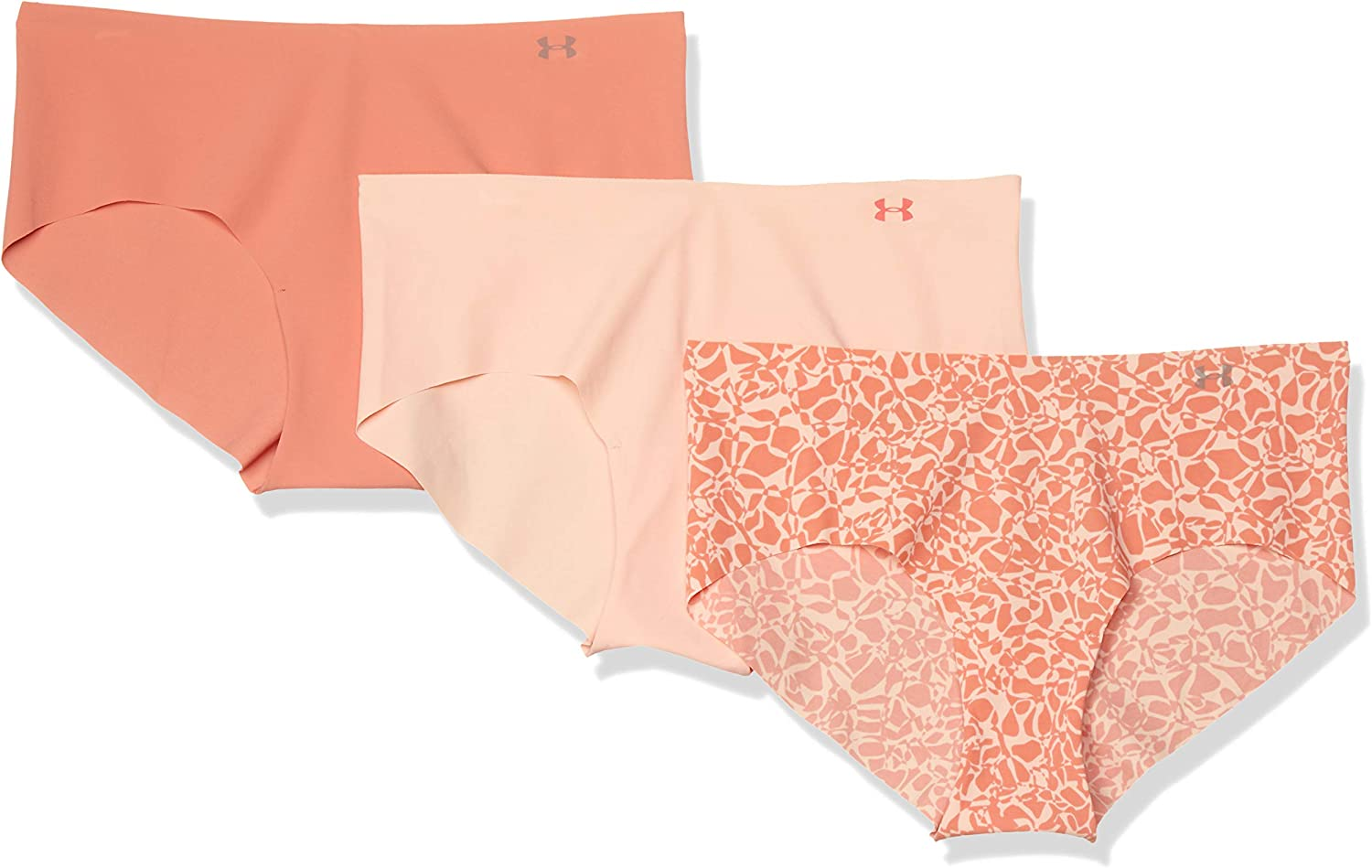 Under Armour Pure Stretch Hipster 3-Pack Printed Ropa Interior Mujer
