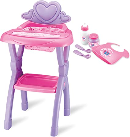 Amazon Com Joyin Sweet Little Baby Doll High Chair Toy Set For