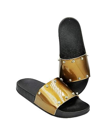 09028537a662 ROSHER Men Non-Slip Antimicrobial Shower Water Shoes Sandals Flip Flops  Slippers