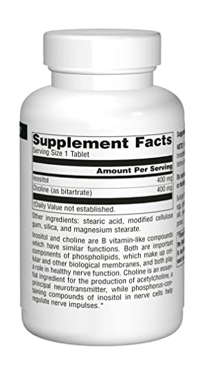 Source Naturals, Inositol & Choline, 100 Tablets