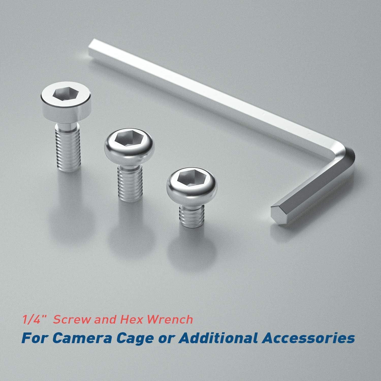 "5x 1//4/"" cámara tornillo 9,5mm acero inoxidable a2-foto tornillos-pulgadas-Camera screw"