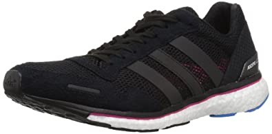 new york ecb0f 7e4c2 adidas Womens Adizero Adios 3 Running Shoe, BlackReal MagentaBright Blue,