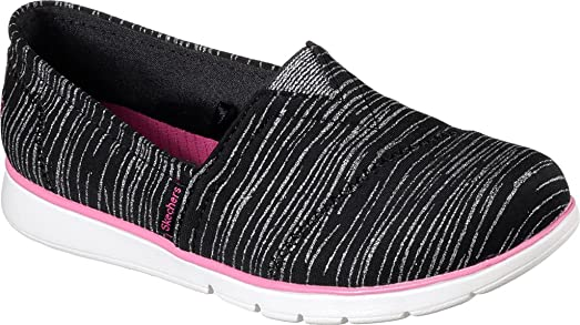 SKECHERS KIDS Girl's Pure Flex 85623L (Little Kid/Big Kid) Black/Hot