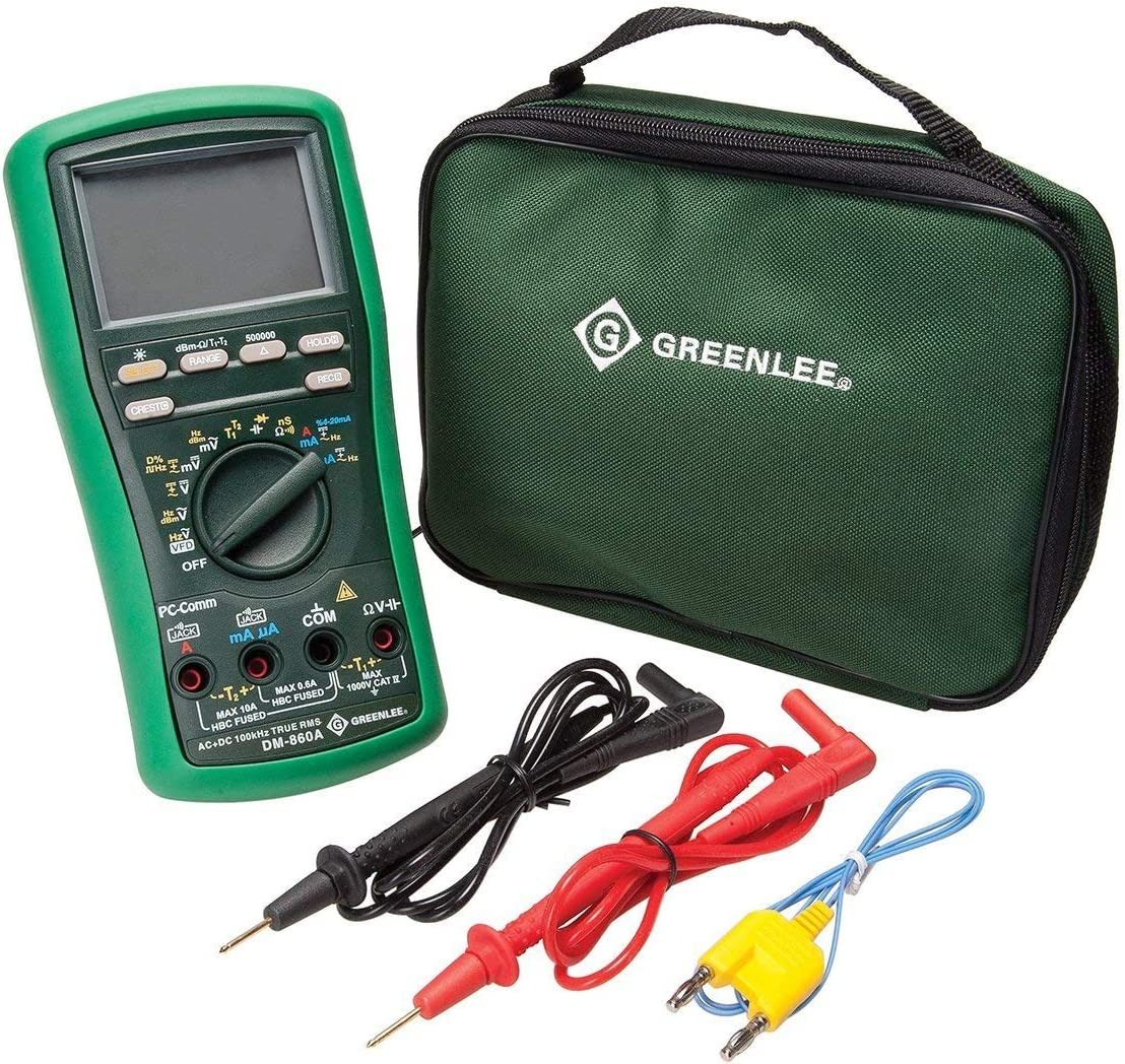 Greenlee – Dmm 500K Counts Dm-860A , Elec Test Instruments DM-860A
