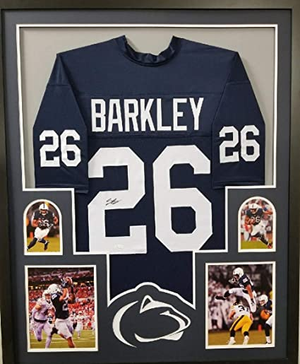 check out cb39c 56244 Saquon Barkley Penn State Nittany Lions Signed Autograph FRAMED Custom  Jersey JSA Witnessed Certified