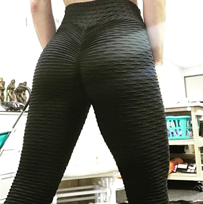 0ea786f6ff99c Amazon.com: 2019 Women Yoga Gym Anti-Cellulite Compression Leggings Butt  Lift Elastic Pants: Clothing