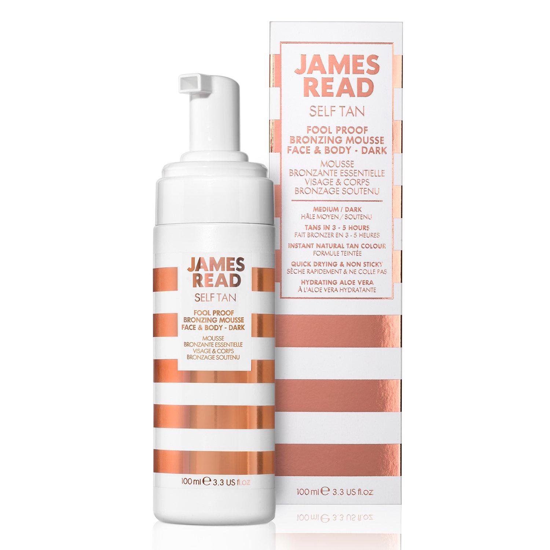 James Read Tan Fool Proof Bronzing Mousse Face & Body Dark, 100 mg.