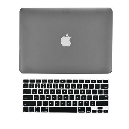 Top Case – Juego 2 en 1 de carcasa rígida de goma + cubierta para teclado para el antiguo Macbook Pro de 13 pulgadas con CD-ROM/DVD