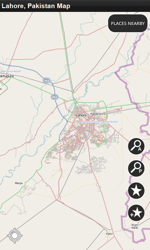 Lahore World Map.Amazon Com Lahore Pakistan Offline Map Appstore For Android