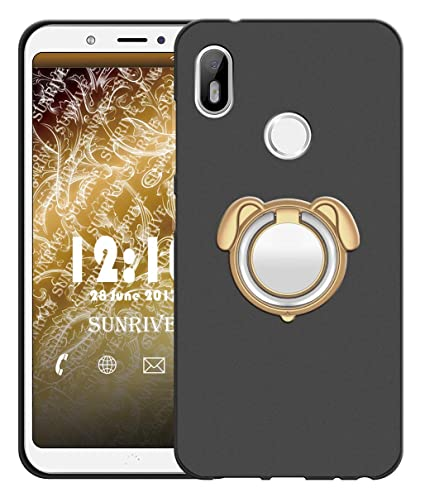 Sunrive Funda para bq Aquaris X2/X2 Pro, Silicona Mate Gel Carcasa Case Bumper Anti-Arañazos Espalda Cover Anillo Kickstand 360 Grados ...