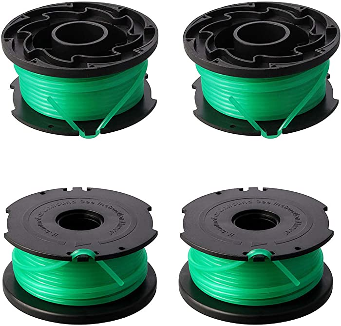 """Eyoloty String Trimmer Spool Replacement for Black and Decker SF-080 GH3000 LST540 Weed Eater 20ft 0.080"""" GH3000R LST540B Edger Refills Line Auto Feed Single Line Parts Trimmers Line Cord(4 Packs)"""