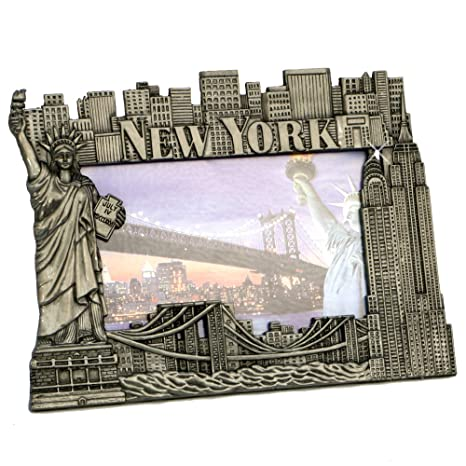 Amazoncom New York Picture Frame Pewter New York Picture