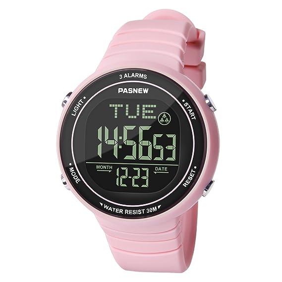 Hiwatch Reloj Deportivo LED Digital Gran Pantalla Relojes para Niños Niñas Estudiantes Jovenes y Simple Reloj Impermeable Casual Luminoso Cronómetro Alarma ...