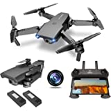 NEHEME NH525 Foldable Drones with 720P HD Camera for Adults, RC Quadcopter WiFi FPV Live Video, Altitude Hold, Headless…