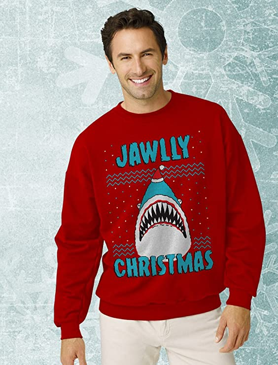 TeeStars Great White Shark Ugly Christmas Sweater Toddler//Kids Sweatshirts