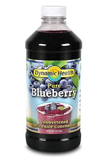 Dynamic Health 473ml 100 Percent Pure Blueberry Juice Concentrate, 16 Fluid  Ounce