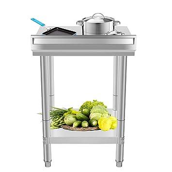 SaitZoit 60x60x88cm Tavolo Da Lavoro Per Cucina Professionale ...