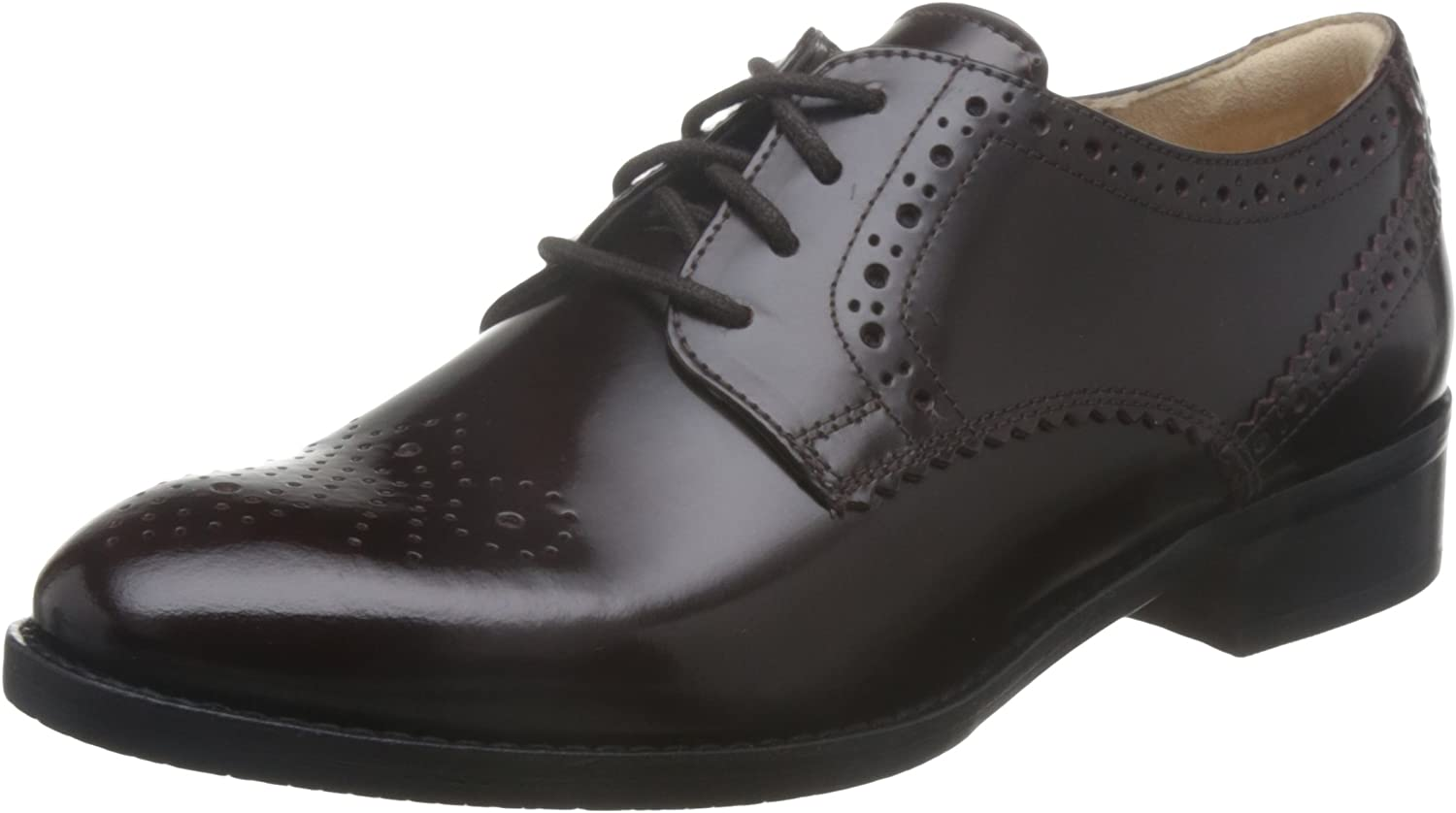 Ladies Clarks Lace Up Leather Brogues *Netley Rose*