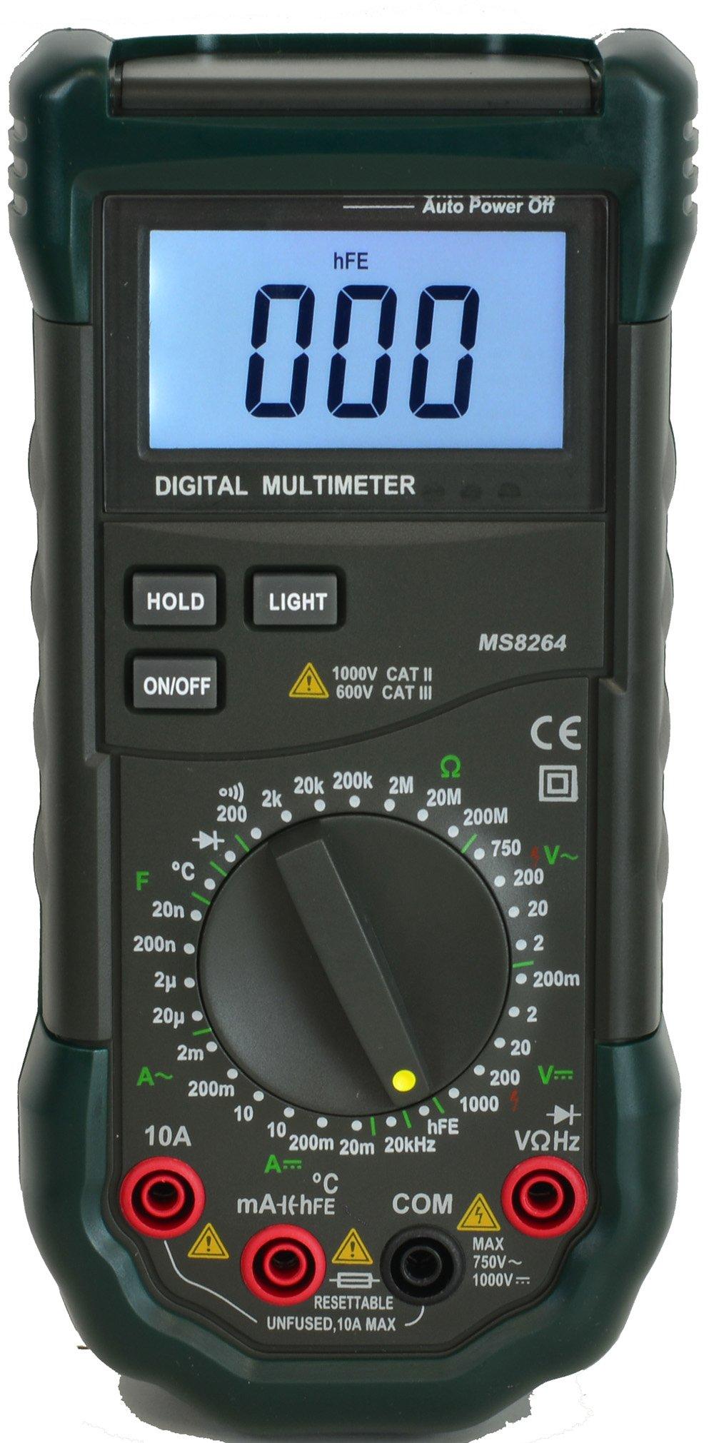 Mastech MS8264 30-Range Digital Multimeter with Temperature Measurement