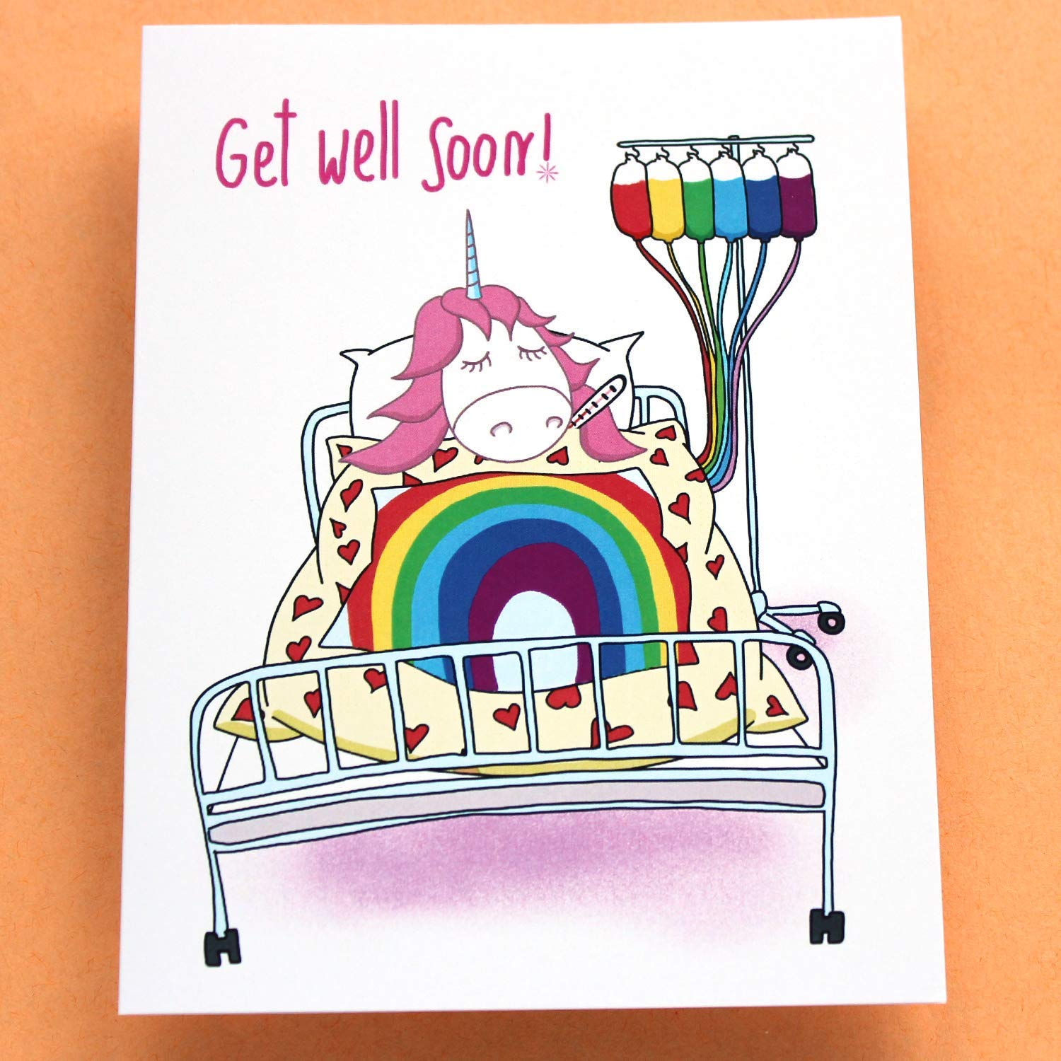 Amazoncom Funny Get Well Card With Unicorn Get Well Soon