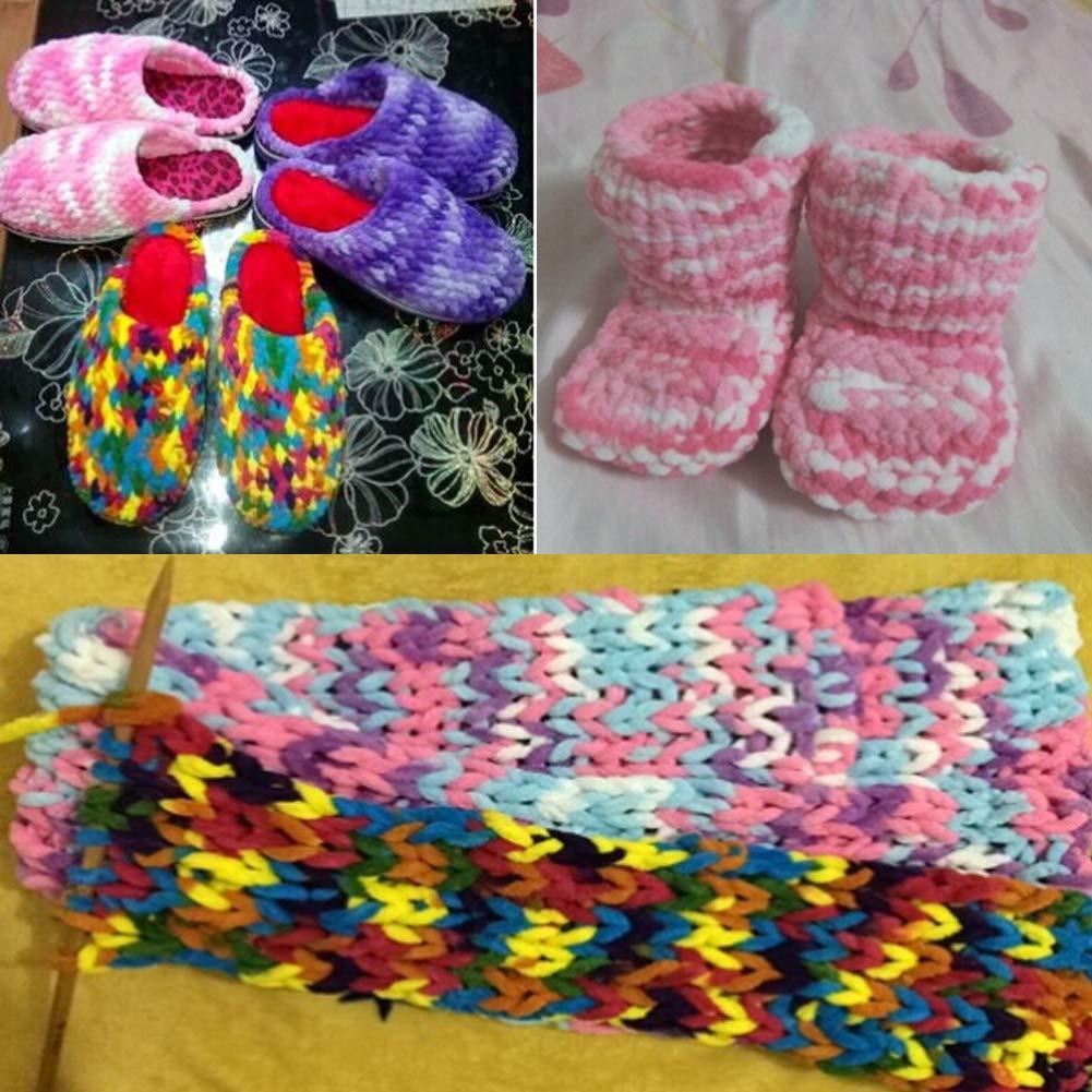 Sets of 4 Big Ball Yarn Soft Yarn Baby Blanket Yarn Scarf Yarn F