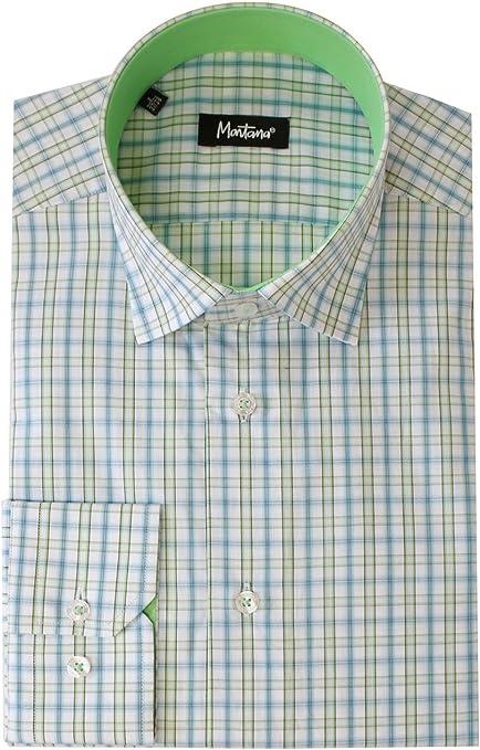 Montana - Montana camisa Azulejos - S: Amazon.es: Ropa y accesorios