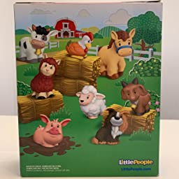 Little People-Pack de 8 Figuras animalitos de la Granja Mattel 1 a/ño GFL21 Juguetes beb/és