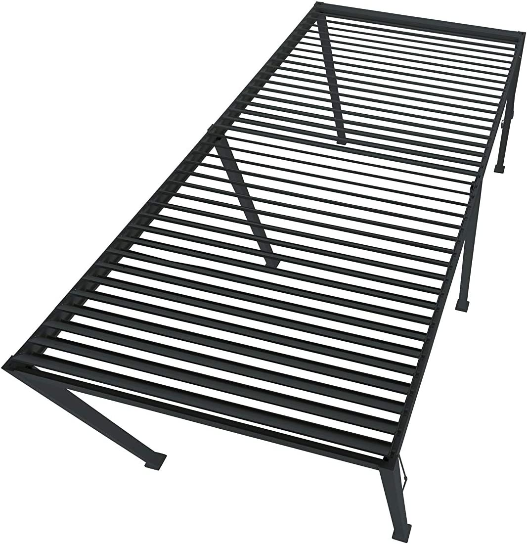 Black 3 x 3 Metres SORARA Mirador Pergola Patio Canopy with Tilting Slats Aluminium