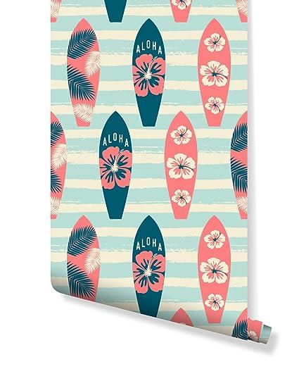 costacover – temporal autoadhesivo extraíble papel pintado – Tablas de surf ilustración – disponible de tamaño