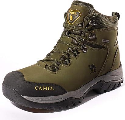 CAMEL Botas de Senderismo para Hombres Zapatillas de Escalada Confortables Antideslizantes y Resistentes al Desgaste Zapatos de Nobuk para Trekking ...