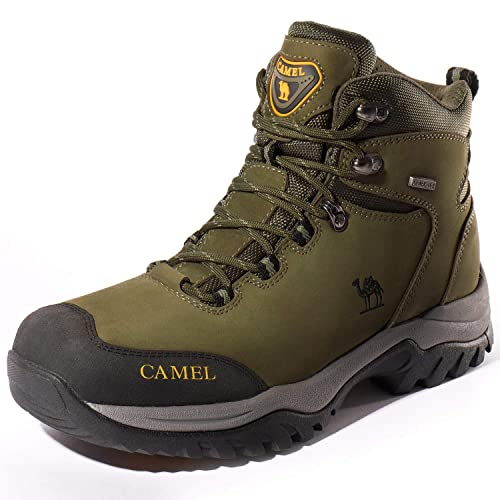 899dc63d38a Camel Crown Hiking Boots Men Walking Boots Waterproof Trekking Shoes Nubuck  Climbing Shoes