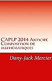 CAPLP 2014 Anticipé - Composition de mathématiques