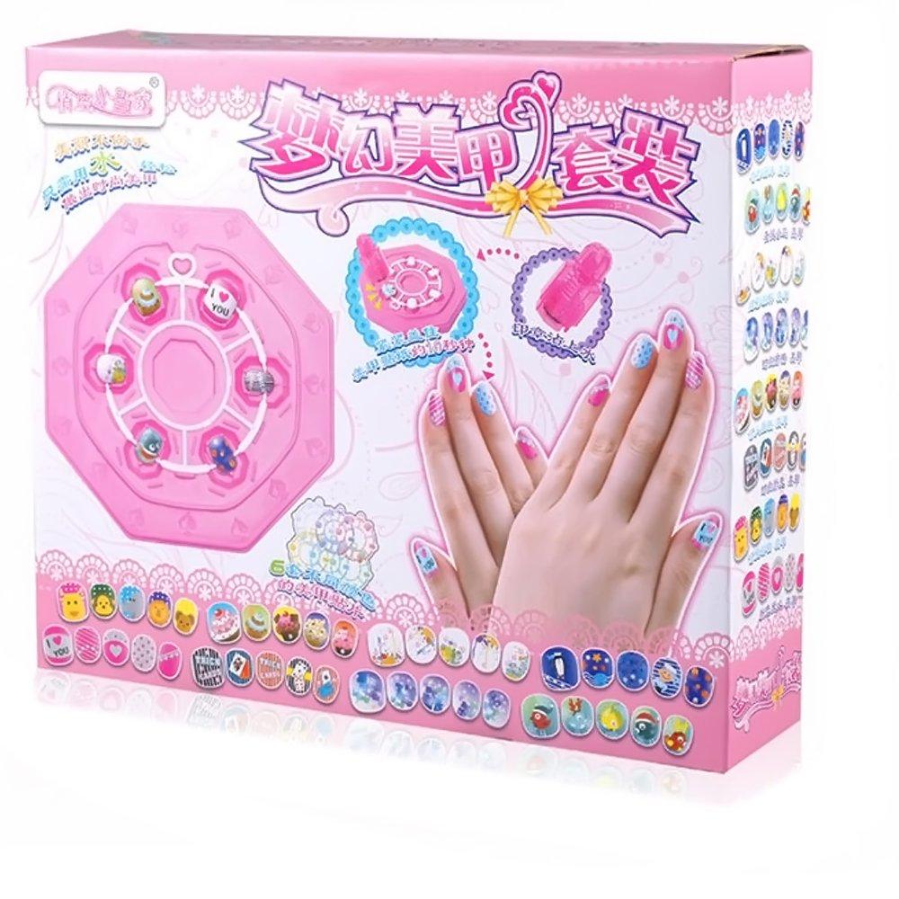 Vococal - 72 piezas Kit Juguetes de Arte de Uñas Belleza / Pegatinas Calcomanías de Clavo / Juguete de Cosméticos Maquillaje para Niñas Bebés